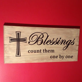 Screenprinted sign on Douglas Fir. Created by Arbor-Craft.
