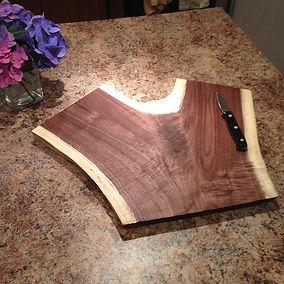 Live edge Black Walnut cutting board. Created by Arbor-Craft.