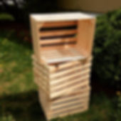 Apple crates made from Douglas Fir. Created by Arobr-Craft.