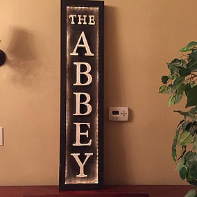 Classic sign with LED backlighting. Created by Arbor-Craft.
