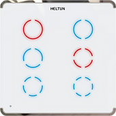 Heltun Z-Wave 700 Touch Panel Switch Sexto (6 channel)