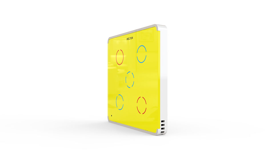 Switcher Yellow Glass White Case