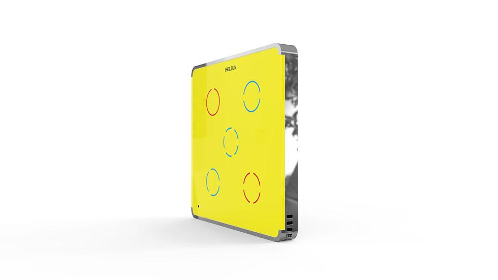 Switcher Yellow Glass Chrome Case