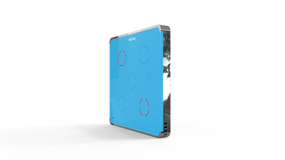 Switcher Blue Glass Chrome Case