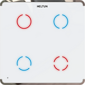 Heltun Z-Wave 700 Touch Panel Switch Quarto (4 channel)