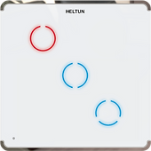 Heltun Z-Wave 700 Touch Panel Switch Trio (3 channel)