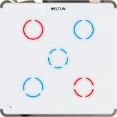 Heltun Z-Wave 700 Touch Panel Switch Quinto (5 channel)