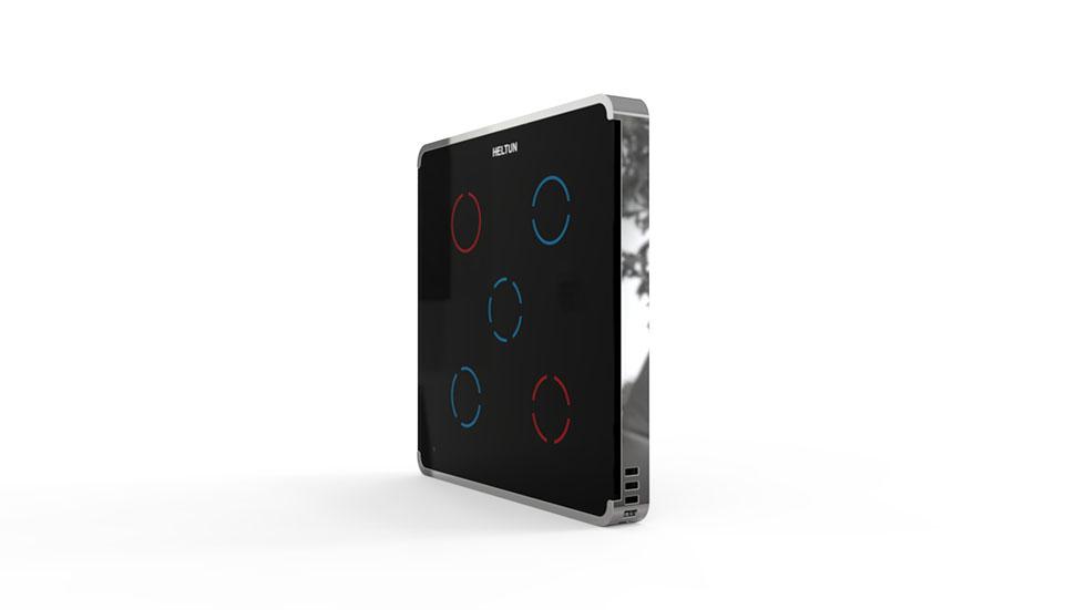 Switcher Black Glass Chrome Case