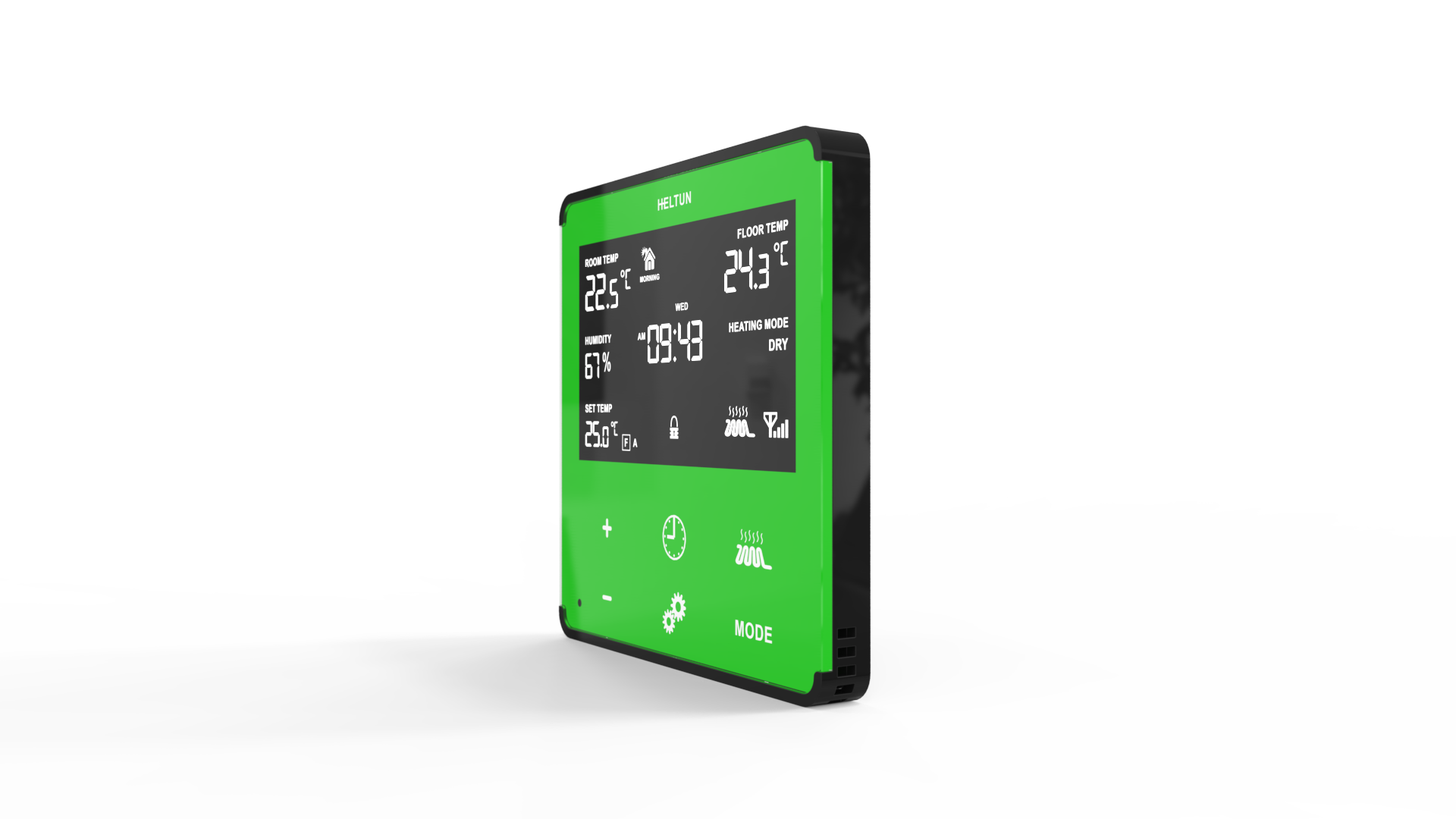 Green Glass with Glossy Black  Case