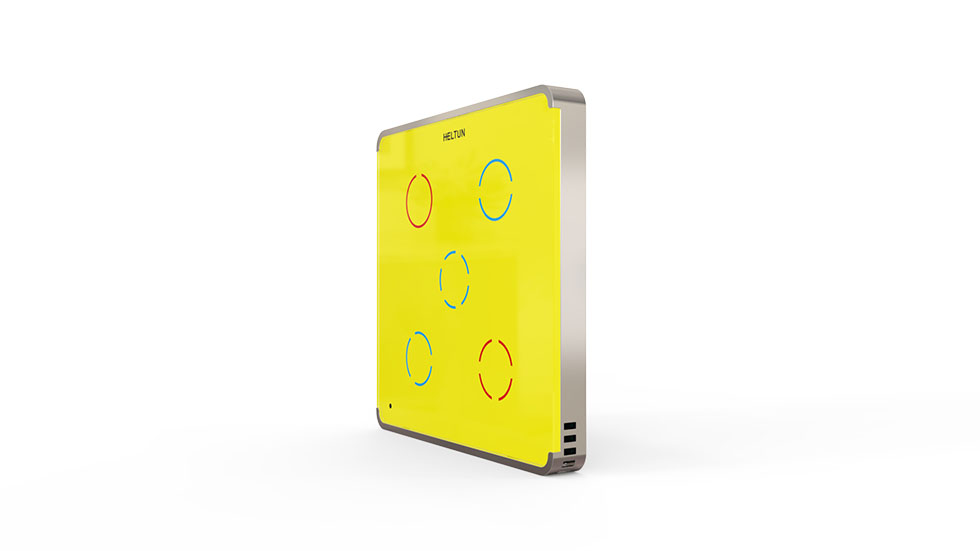Switcher Yellow Glass Silver Case