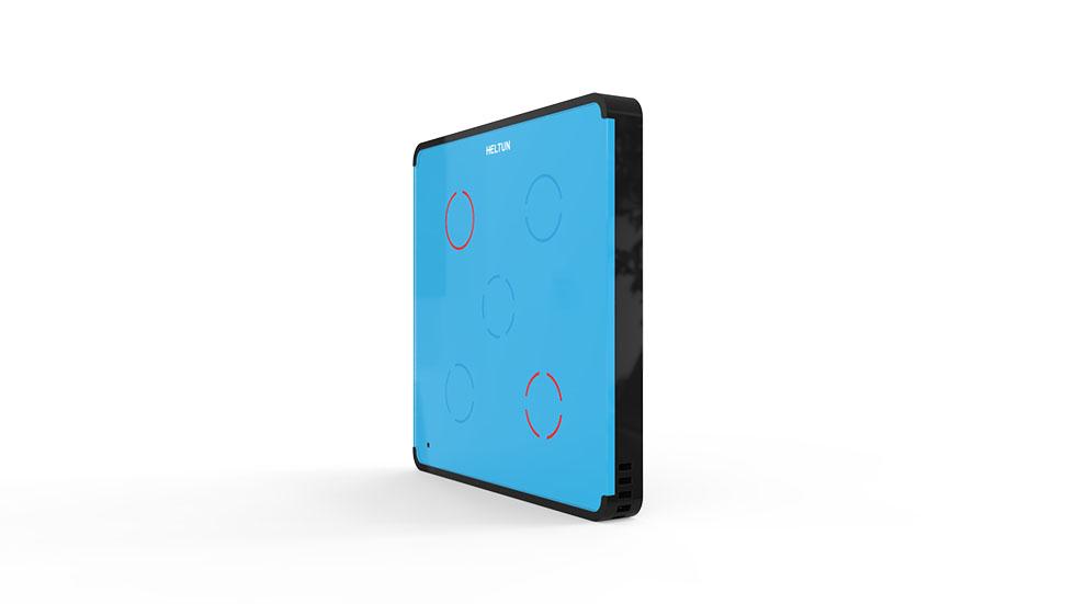 Switcher Blue Glass Black Case