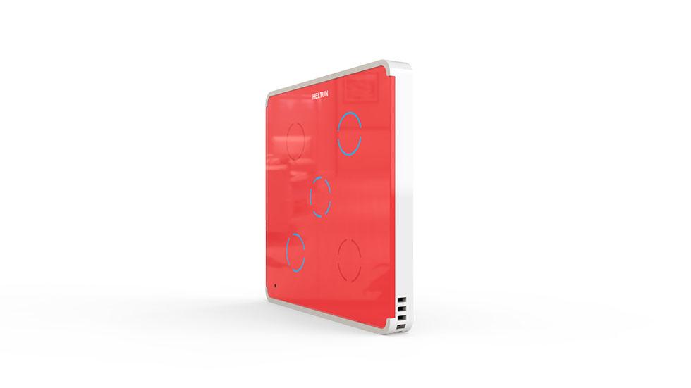 Switcher Red Glass White Case