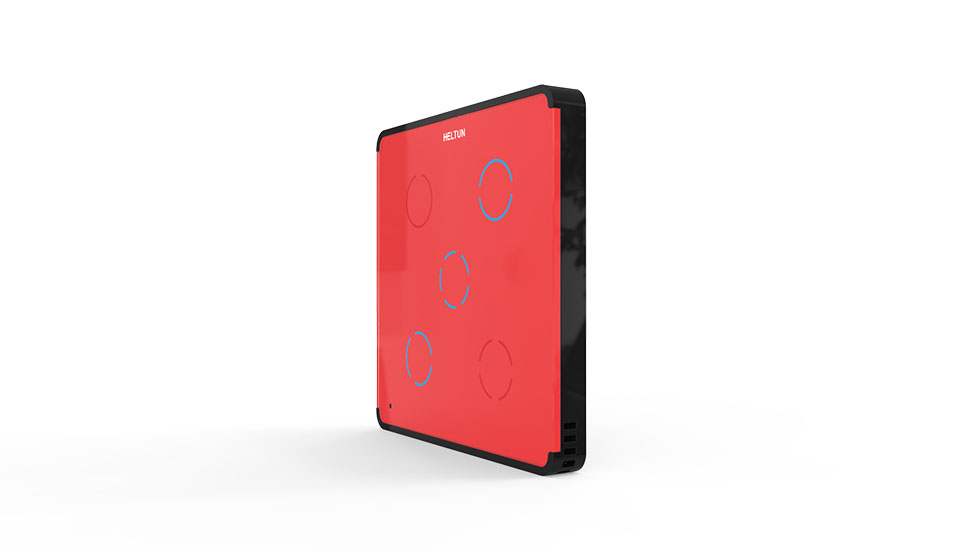Switcher Red Glass Black Case