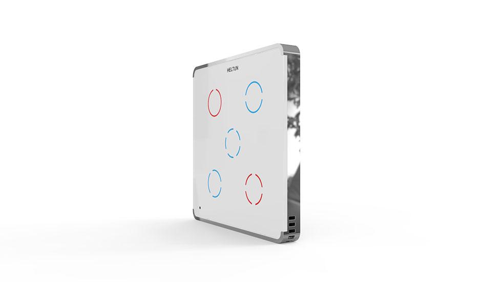 Switcher White Glass Chrome Case