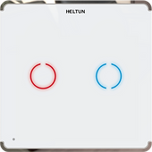 Heltun Z-Wave 700 Touch Panel Switch Duo (2 channel)
