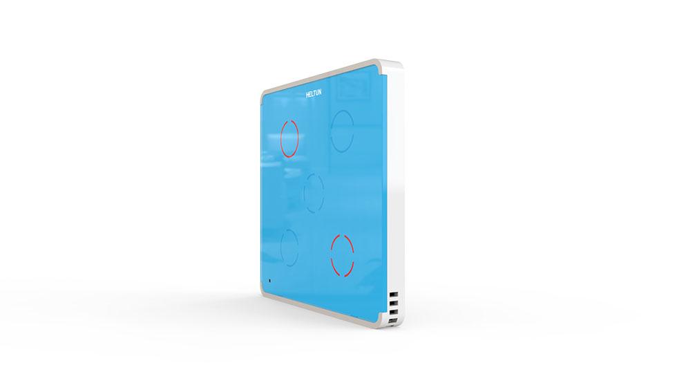 Switcher Blue Glass White Case