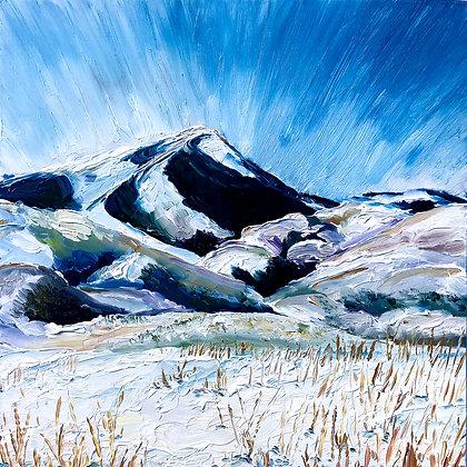 Snow Days: Mountain Art Print, Limited Edition