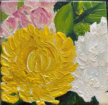 "Daily Flower Painting #2: ""Peeking Through"""