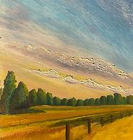 Ebullient., 18x48, Original Oil on Panel