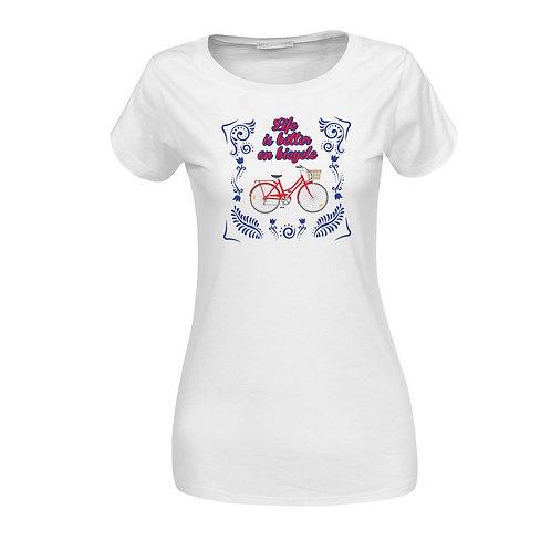 Life is better | bicikli mintás női póló