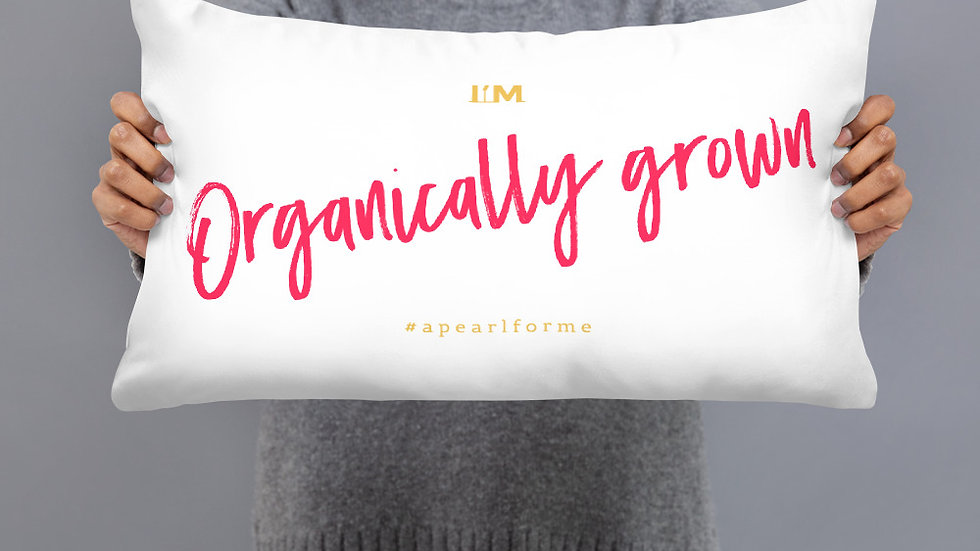 Organically Grown Throw Pillow