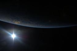 Sunset from Orbit