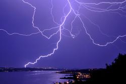 Lightning over Quebec