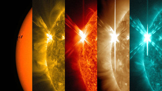 our sun in different kinds of light