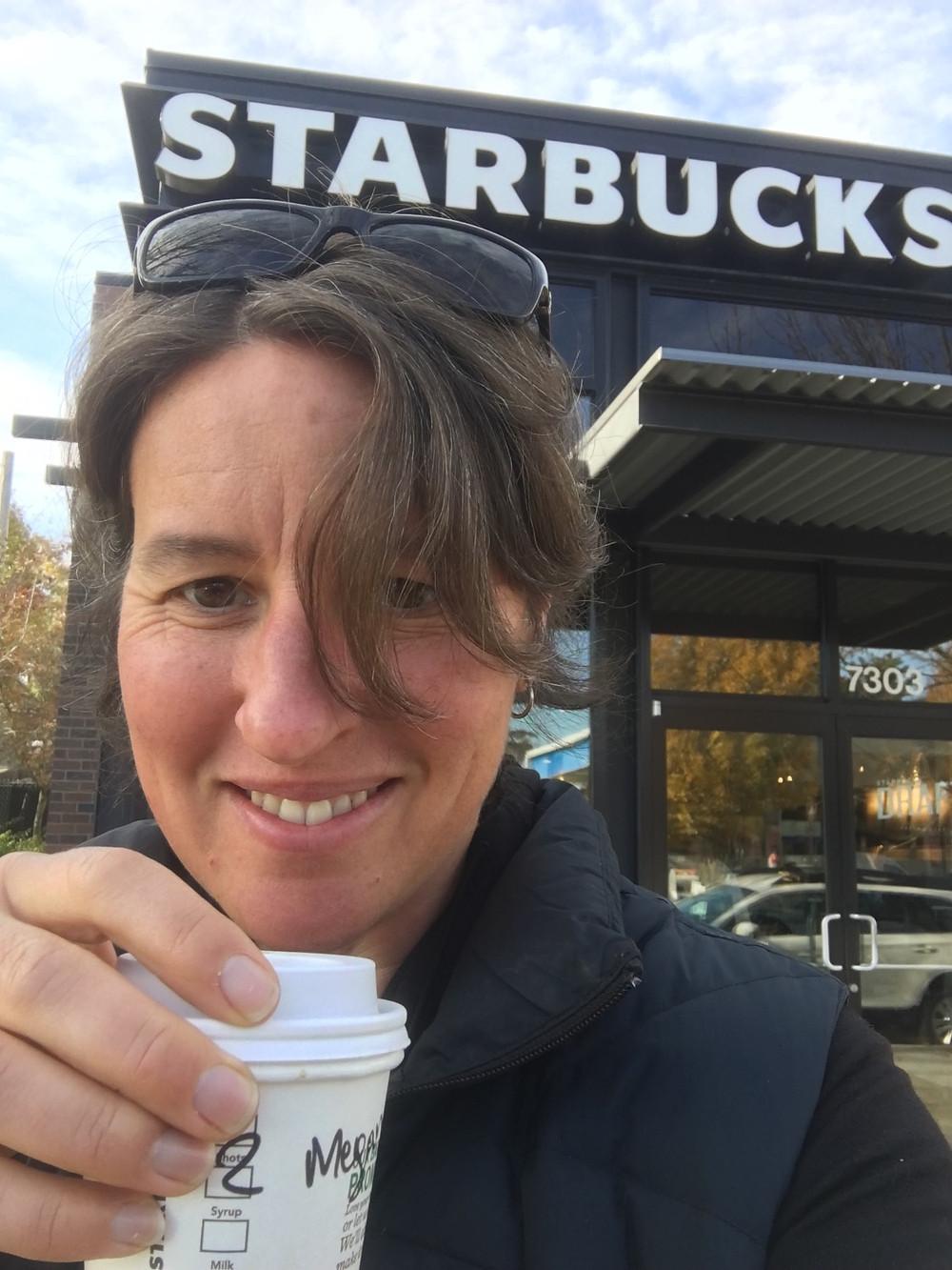 Megan at Starbucks