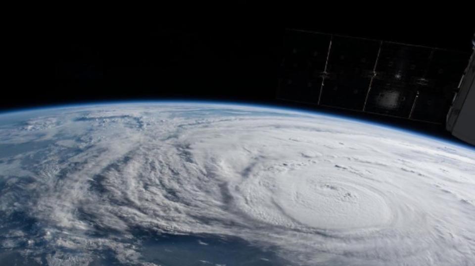 hurricane harvey from above