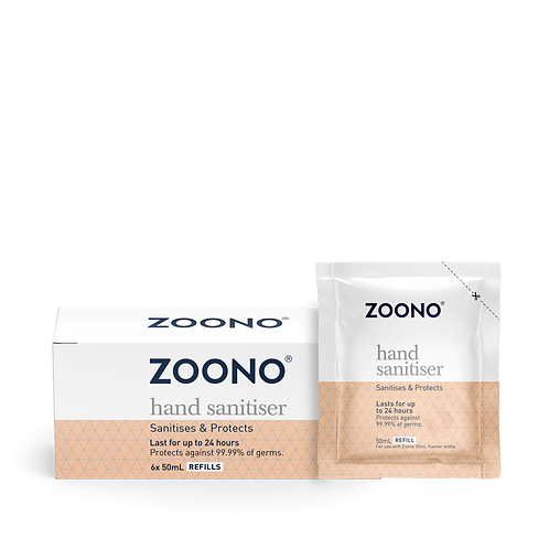 ZOONO 24小時長效殺菌搓手液 (50ml補充裝x6) GermFree 24 Hand Sanitizer (50ml x6 Refill Pack)