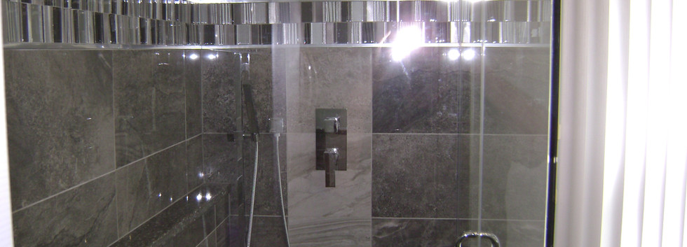 Custom Glass Enclosed Shower
