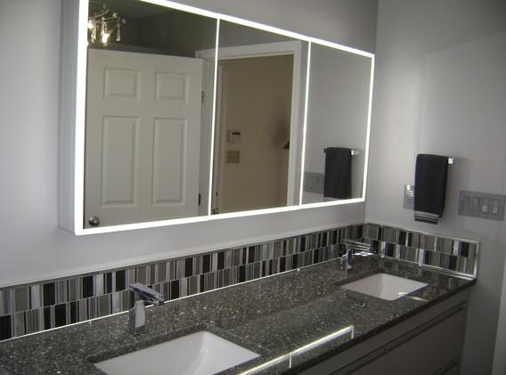 Contemporary Lighted Mirror
