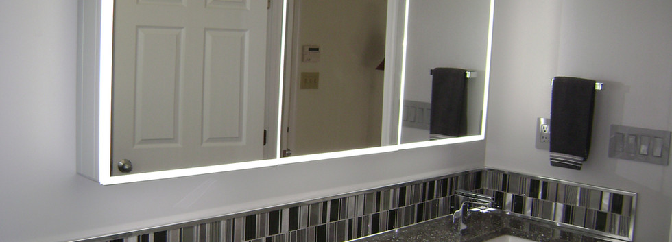 Contemporary Lighted Mirror