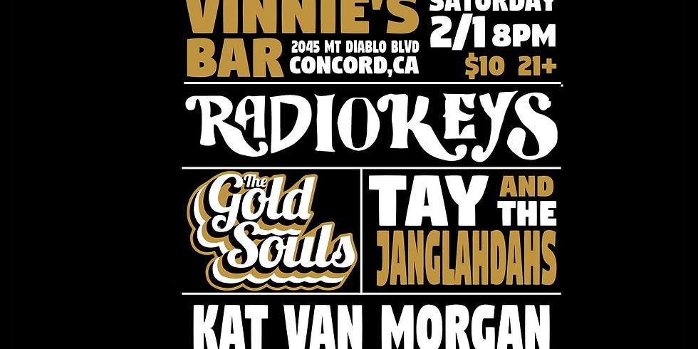 $10 - Radiokeys   The Gold Souls   Tay & the Janglahdahs   Kat Van Morgan