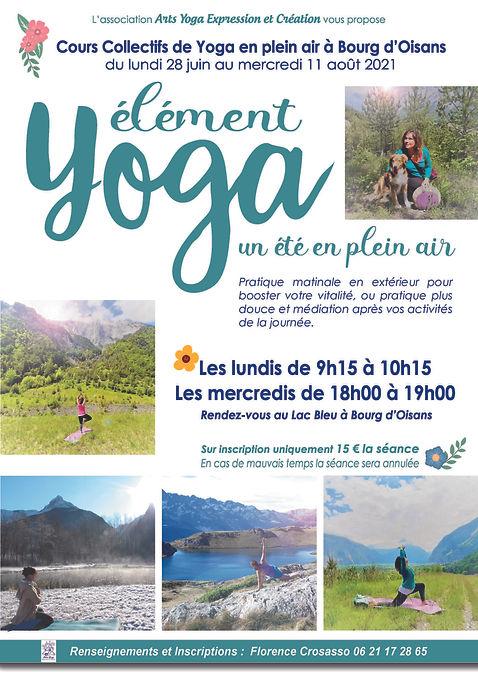 YOGA Element Affiche été 2021 Florence C