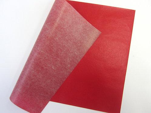 Papier carbone rouge ( la feuille )
