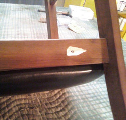 Dining chair seat back before