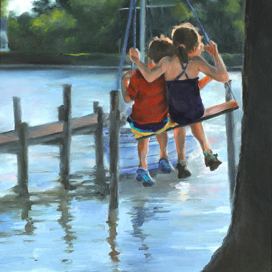 Swing   oil on canvas. 9x12