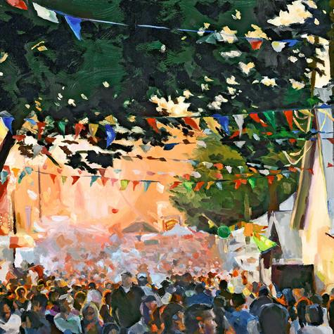 Montgomery County Fair   oil on canvas. 16x20