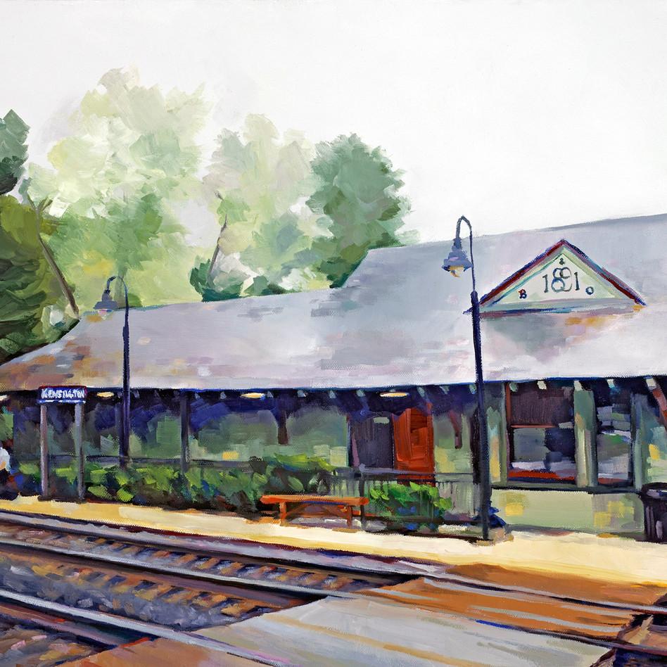 Kensington Station   oil on canvas. 16x20