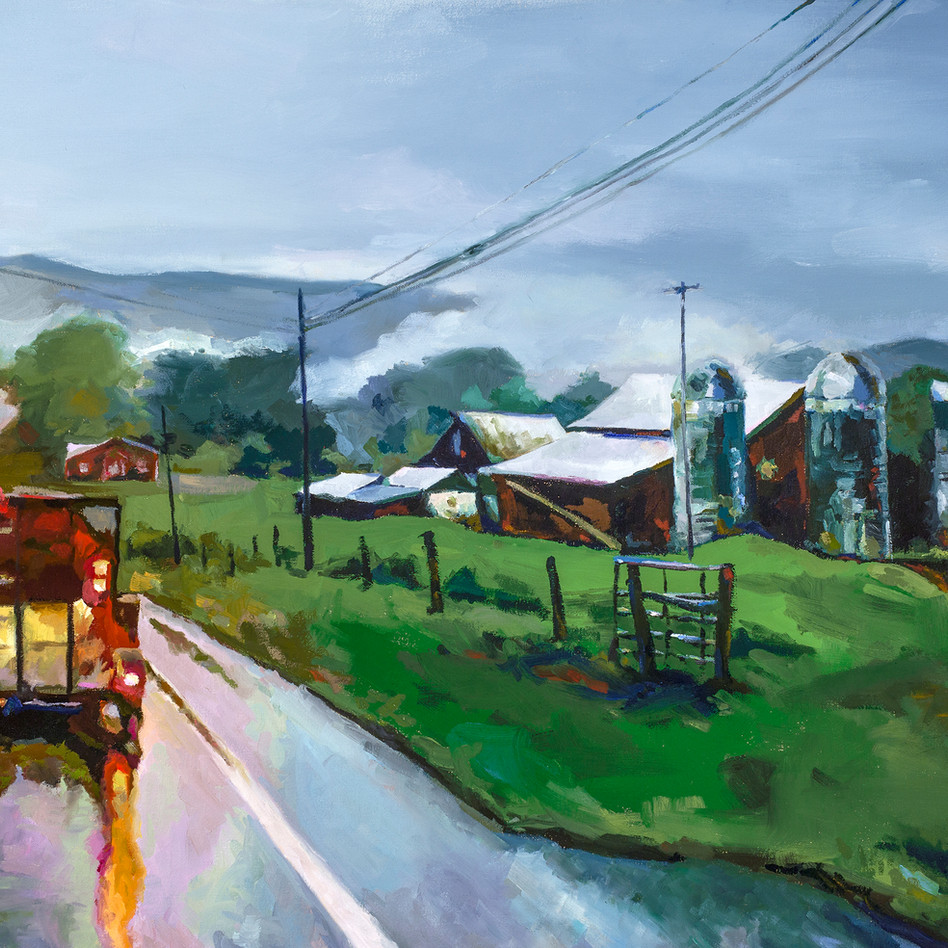 Mountain Road   oil on canvas. 24x36