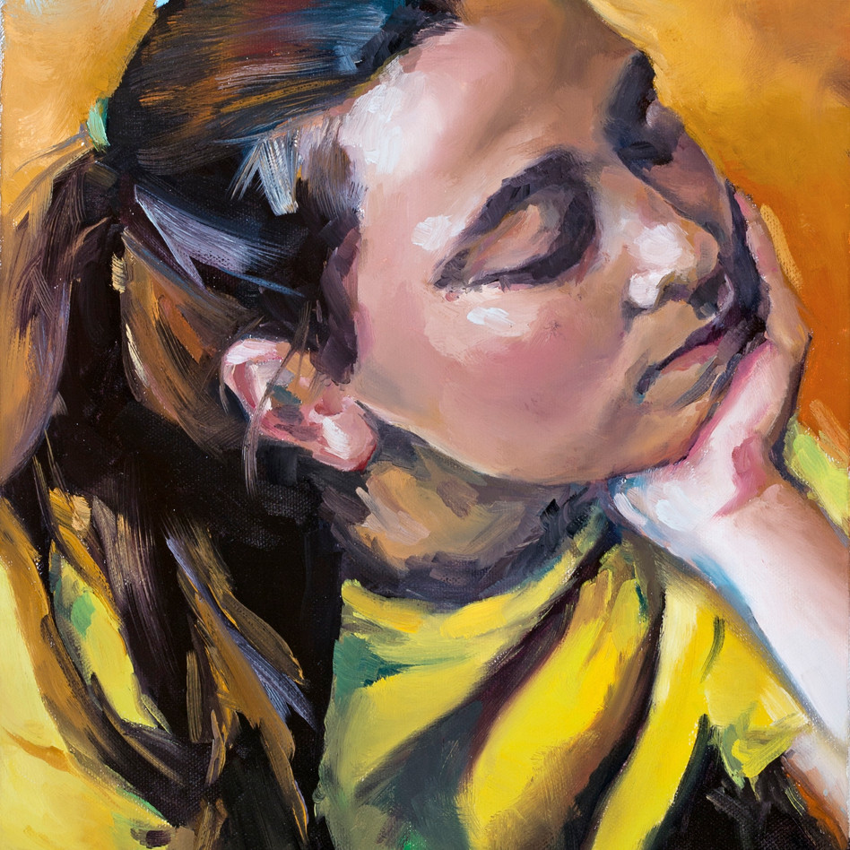 Quiet Moment   oil on canvas. 11x14
