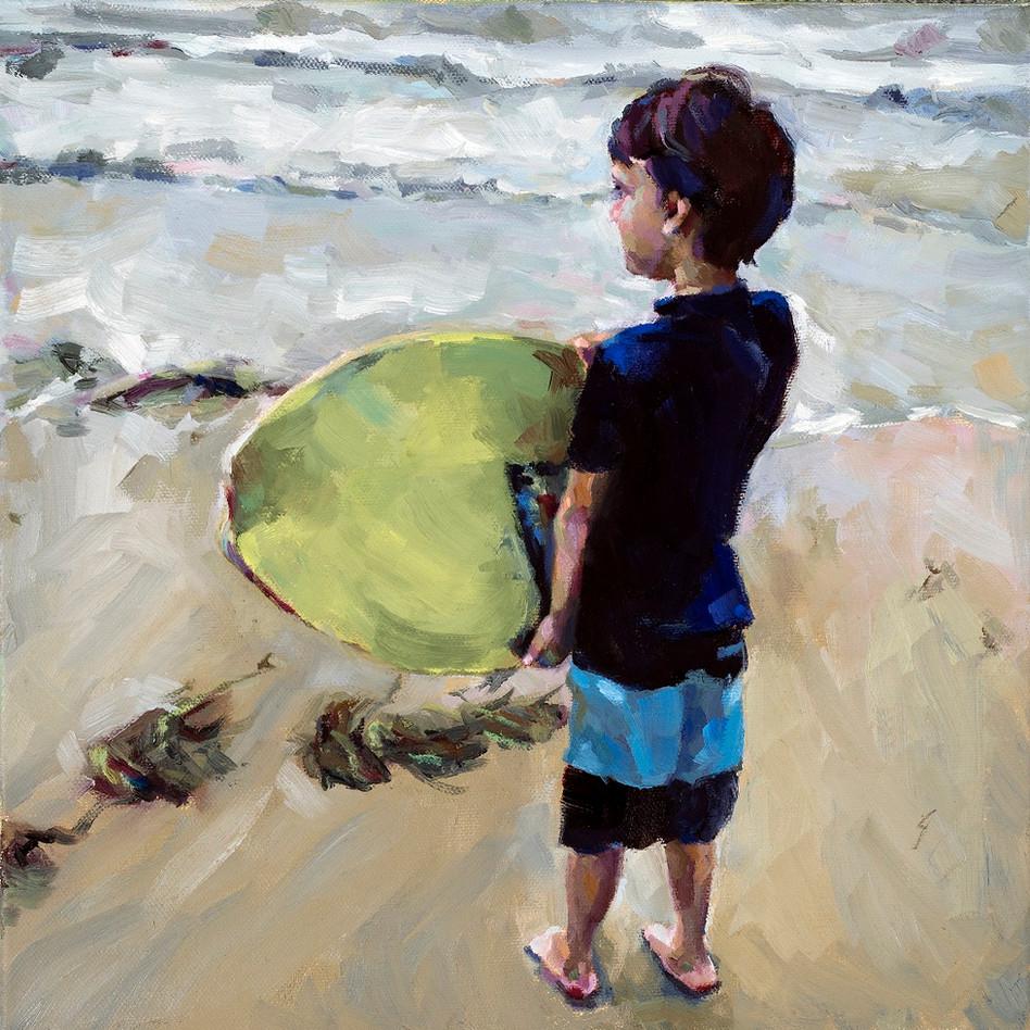 Surf   oil on canvas. 12x12