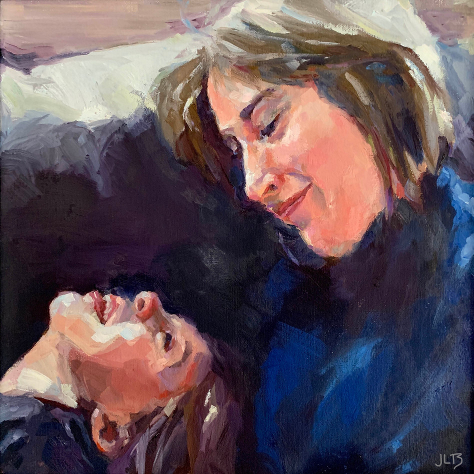 Mother's Love   oil on canvas. 12x12