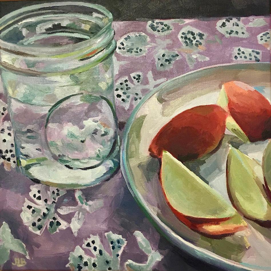 Summer Fruit   oil on canvas. 12x12