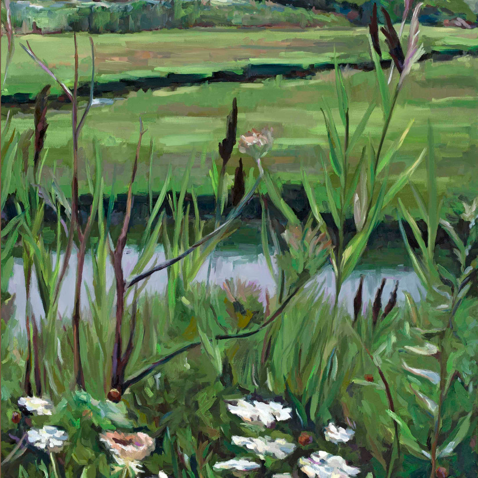 Into the Weeds   oil on canvas. 30x40