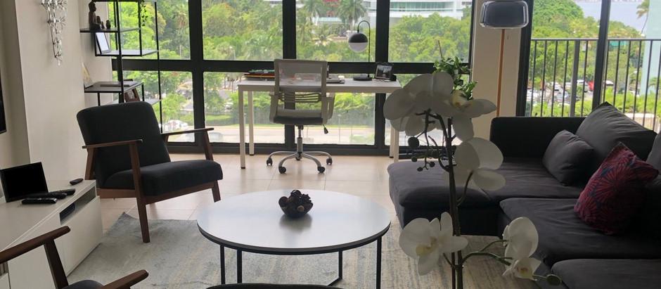 Miami: projeto de interiores para apartamento