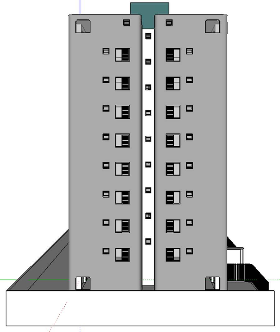 Fachada Lateral Esquerda - projeto