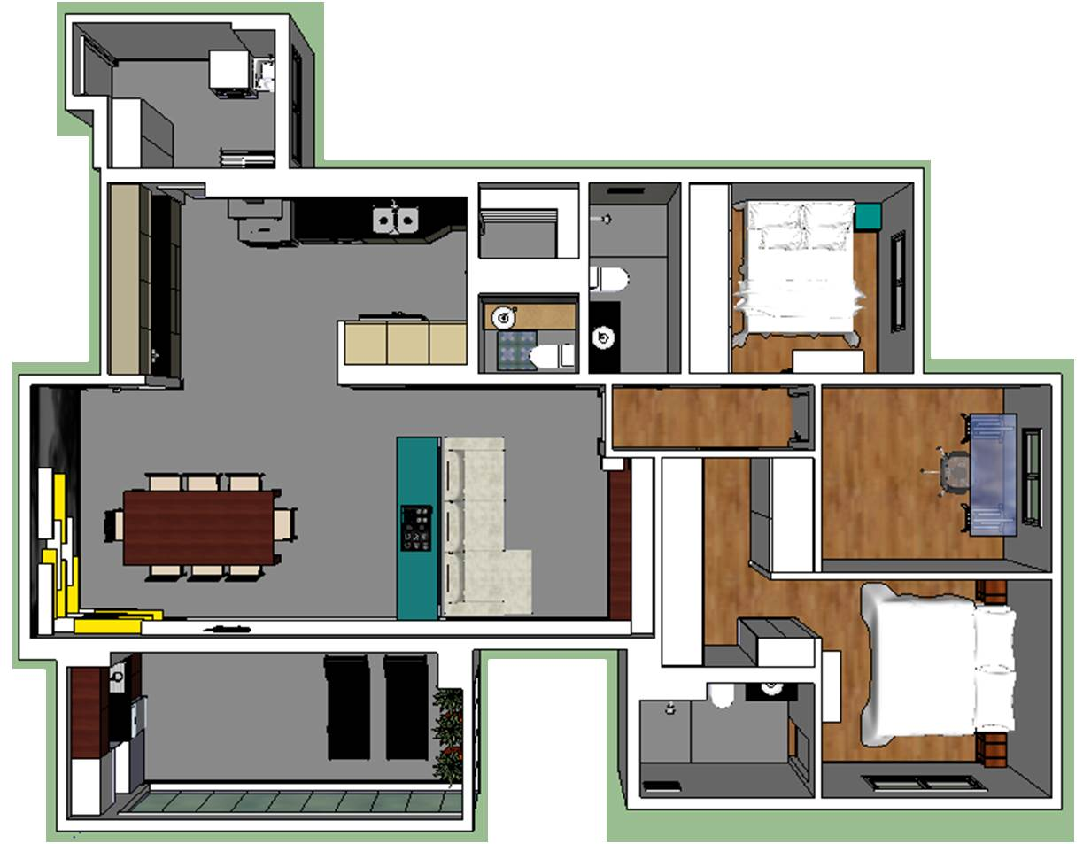 Apartamento Jovem Casal 1